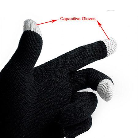 خرید دستکش تاچ اسکرین رنگ مشکی، آبی طوسی قهوه ای