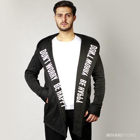 خرید اینترنتی پستی شنل جلو باز مردانه طرحدار