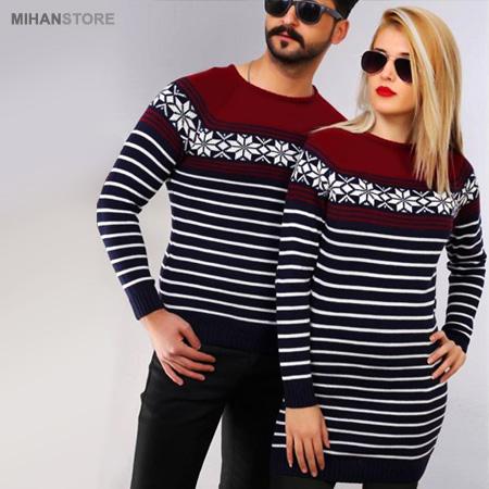مدلهای ست بافت بلند زن و مرد مناسب فصل زمستان