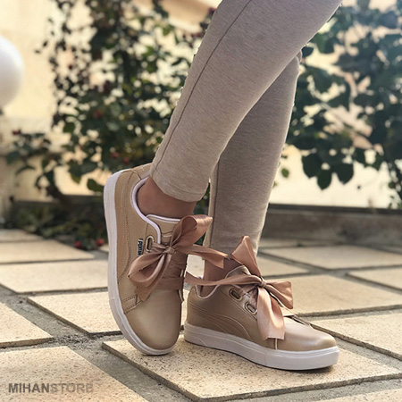 کفش پوما دخترانه مدل Rimon مدل بند پاپیونی