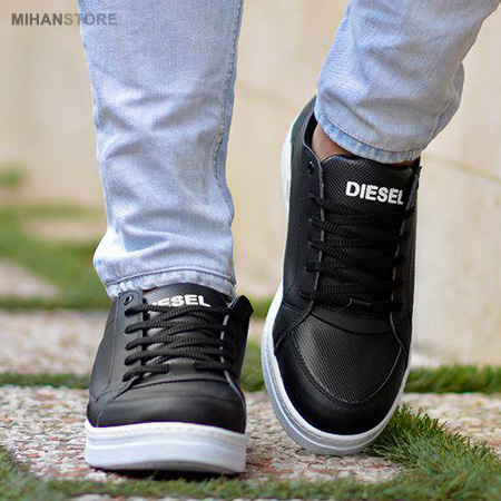 کفش مردانه Diesel طرح Studdzy مشکی 2019