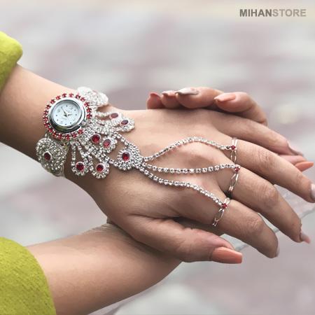 ساعت مچی دستبندی انگشتری شیک زنانه دخترانه 2020