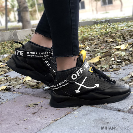کفش کتونی دخترانه زنانه سایزهای 37 تا 40 رنگ مشکی