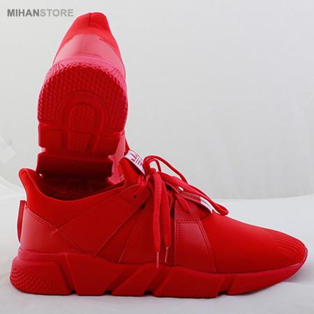 خرید اینترنتی کفش اسپرت قرمز پسرانه کفی پرسی فاقد دوردوزی