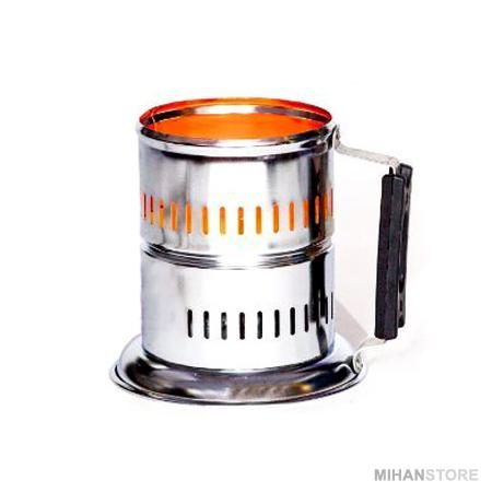 ذغال سرخ کن سزار برقی منبع تغذیه برق 220 ولت شهری