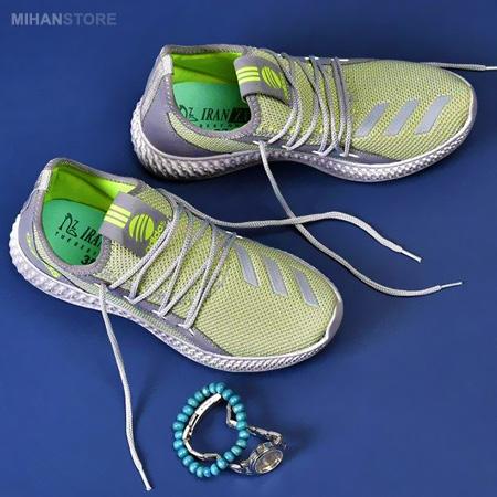 کفش کتوی دخترانه مصخوص پاهای لاغر رنگ ترکیبی سبز طوسی
