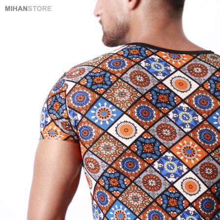 خرید آنلاین تی شرت آستین کوتاه یقه گرد مردانه هاوایی 2019