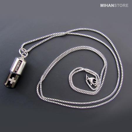 خرید گردنبند استیل رنگ ثابت زنجیر استیل سریال عاشقانه