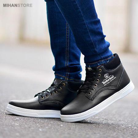 کفش مردانه ساقدار Timberland طرح Baskets مشکی