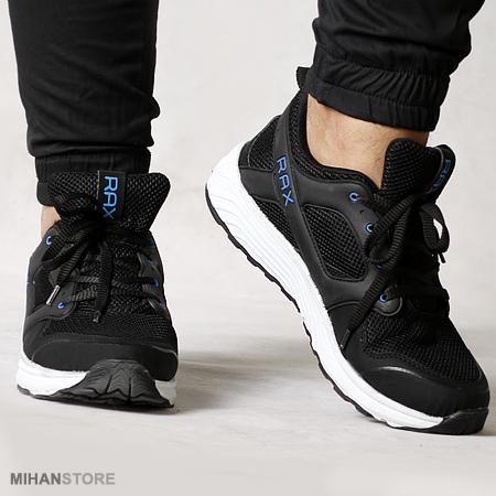 خرید اینترنتی کفش مشکی مردانه Rax  چهار سایز مختلف