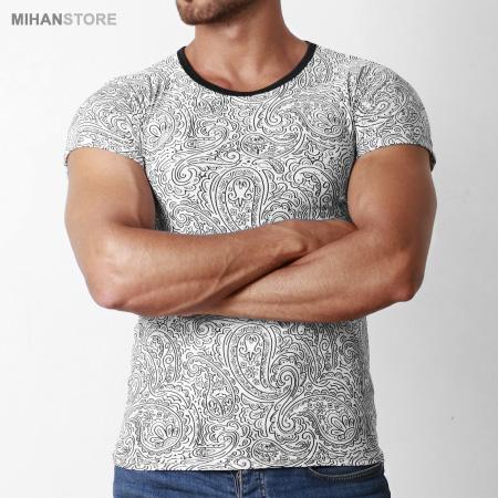 خرید ارزان تی شرت مردانه استین کوتاه لاکچری هاوایی