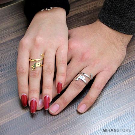 خرید انگشتر طلایی طرح عشق مدل پاییز 96